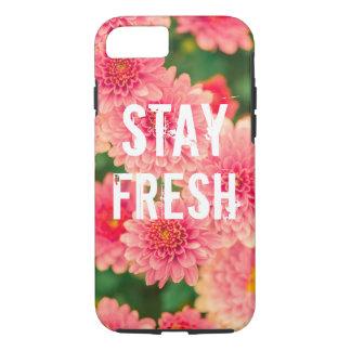 Flor fresca del humor del inconformista del lema funda iPhone 7