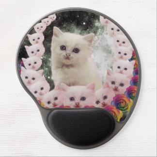 flor-gato 000 alfombrilla de ratón con gel
