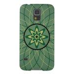 Flor geométrica de Forest Green Carcasa De Galaxy S5