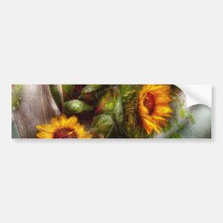 Flor - girasol - caja de herramientas de los jardi pegatina para auto