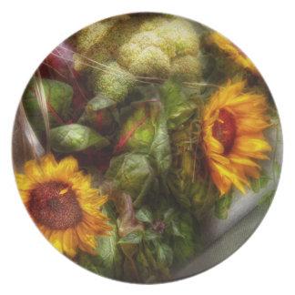 Flor - girasol - caja de herramientas de los plato para fiesta