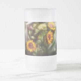Flor - girasol - caja de herramientas de los taza de cristal