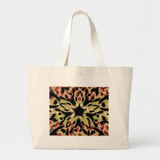 Flor gráfica bolsa de tela grande