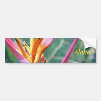 Flor hawaiana aumentada de Heliconia Pegatina Para Auto