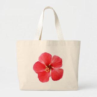 Flor hawaiana roja del hibisco bolsas