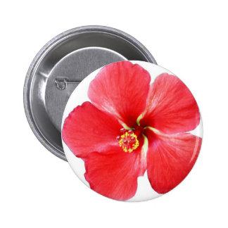 Flor hawaiana roja del hibisco pin