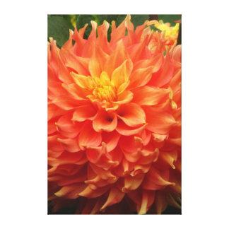 Flor hermosa del amarillo anaranjado impresión en lienzo