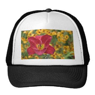Flor hermosa gorros bordados