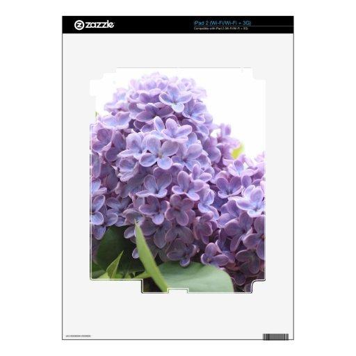 Flor hermoso, suave de la lila calcomanías para iPad 2