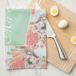 Flor, hortensias gardenias rosas detalles celeste toallas de cocina