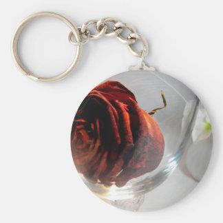 Flor I de Glassed Llavero Redondo Tipo Pin