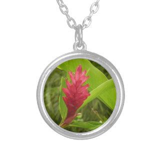 Flor I del jengibre rojo Colgante Redondo