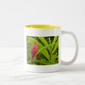 Flor I del jengibre rojo Taza De Dos Tonos