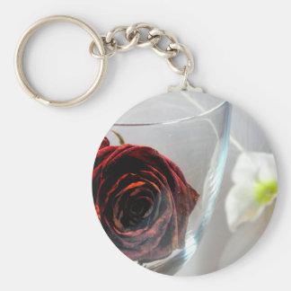 Flor II de Glassed Llavero Redondo Tipo Pin