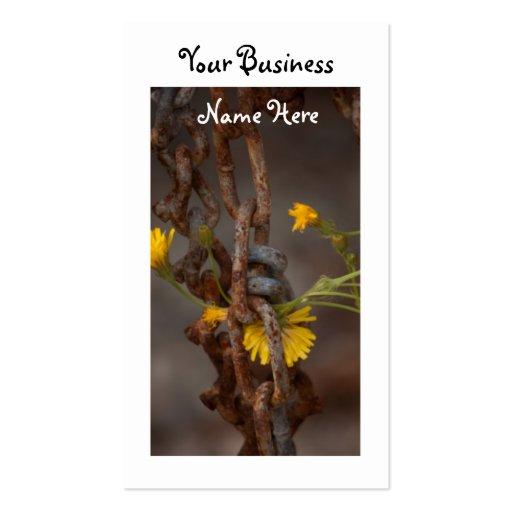 Flor invasor tarjetas de visita