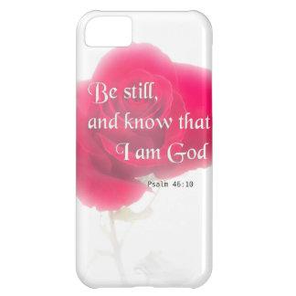 Flor Iphone, Ipad, Smar del 46:10 del salmo del Carcasa iPhone 5C