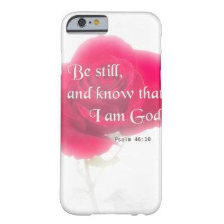 Flor Iphone, Ipad, Smar del 46:10 del salmo del Funda Barely There iPhone 6