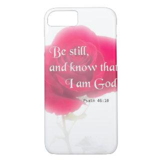 Flor Iphone, Ipad, Smar del 46:10 del salmo del Funda iPhone 7