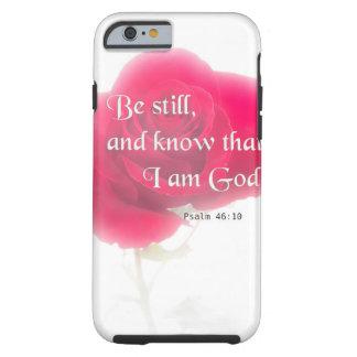 Flor Iphone, Ipad, Smar del 46:10 del salmo del Funda Resistente iPhone 6