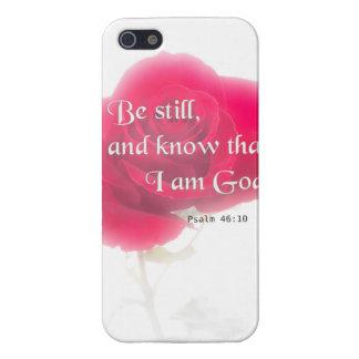 Flor Iphone, Ipad, Smar del 46:10 del salmo del iPhone 5 Fundas