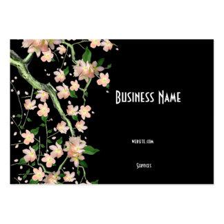 Flor japonés asiático del melocotón de la tarjeta tarjetas de visita grandes