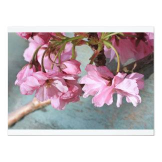 """Flor japonés del cerezo invitación 6.5"""" x 8.75"""""""