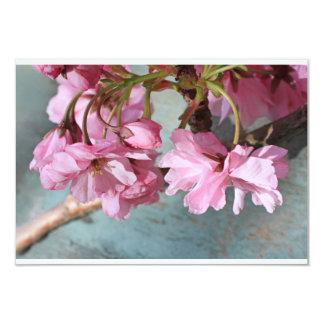 """Flor japonés del cerezo invitación 3.5"""" x 5"""""""