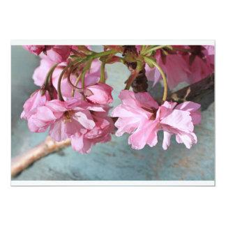 """Flor japonés del cerezo invitación 5"""" x 7"""""""
