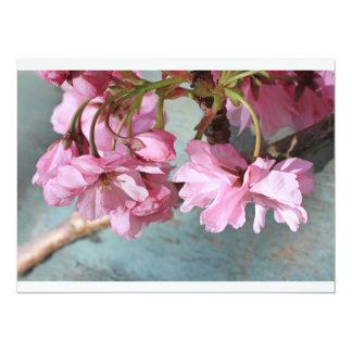 """Flor japonés del cerezo invitación 5.5"""" x 7.5"""""""