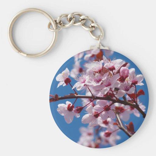 Flor japonés del cerezo llavero