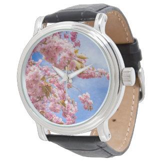Flor japonés hermoso del cerezo reloj de mano