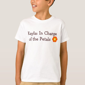 flor, Kayla: Responsable de los pétalos Playera
