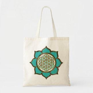 Flor la vida Lotus - türkis Bolsa Tela Barata