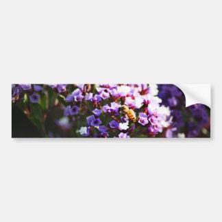 flor lavendar etiqueta de parachoque