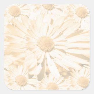 Flor ligera de la sombra adhesiva Escribir-EN la h Calcomanía Cuadradas Personalizadas