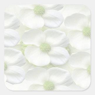Flor ligera de la sombra adhesiva Escribir-EN la h Calcomanía Cuadrada Personalizada