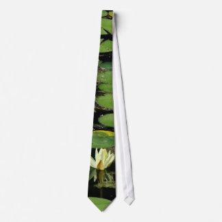 Flor Lilypads floral de Waterlily del jardín del Corbata