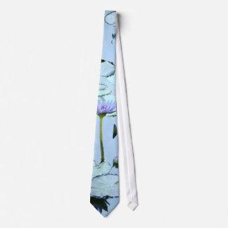 Flor Lilypads floral de Waterlily del jardín del Corbata Personalizada