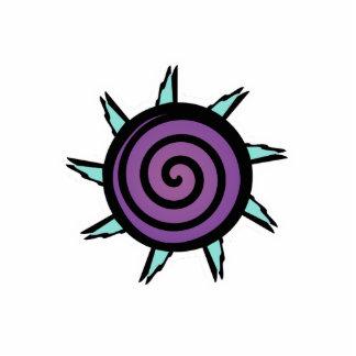 Flor linda de la púrpura del trullo imán fotoescultura