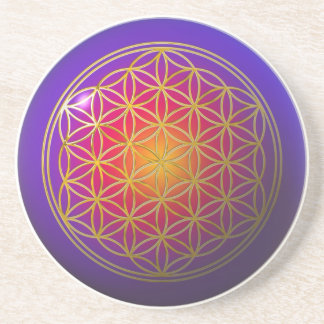 Flor Live/de la violeta del oro Posavasos Manualidades