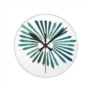 Flor lunar reloj redondo mediano