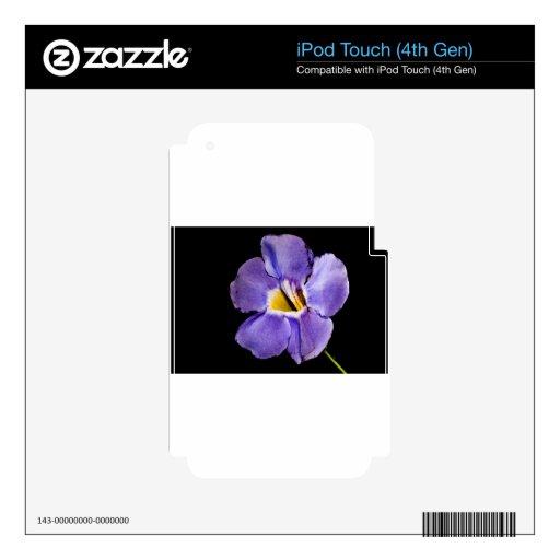 Flor macra azul iPod touch 4G calcomanías