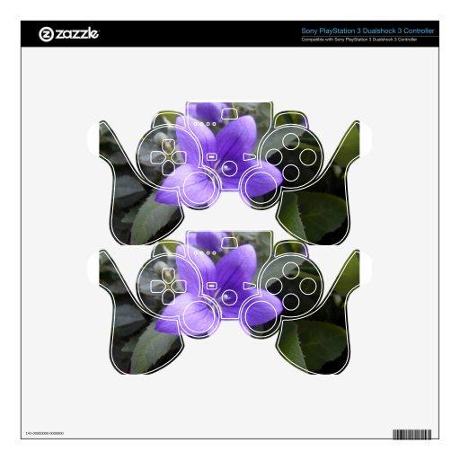 Flor macra azul mando PS3 calcomanías