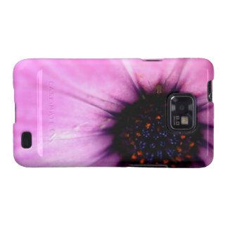 Flor macra del rosa de la foto con el caso galaxy SII carcasas