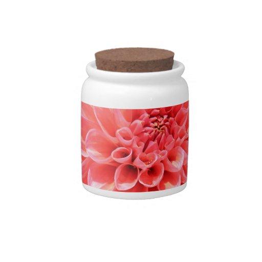 Flor macra jarra para caramelo