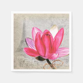 Flor macra Lotus Servilleta Desechable