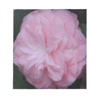 Flor macra rosada de Camelia Libreta Para Notas