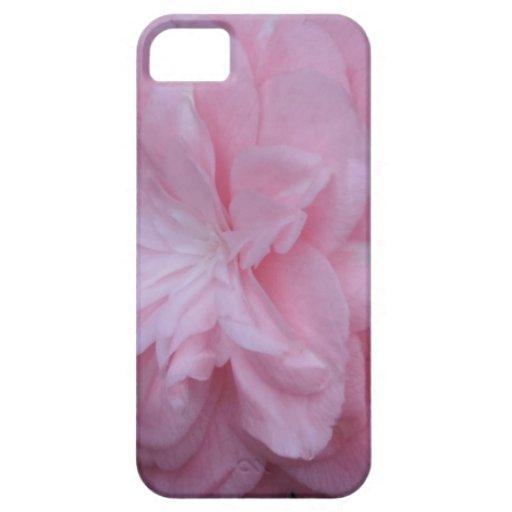 Flor macra rosada de Camelia iPhone 5 Case-Mate Protector