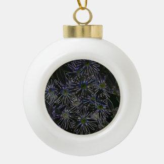 Flor mágica abstracta adorno de cerámica en forma de bola