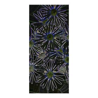 Flor mágica abstracta tarjeta publicitaria
